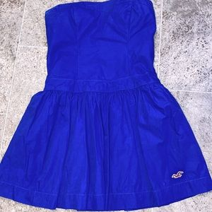 Hollister mini blue strapless dress